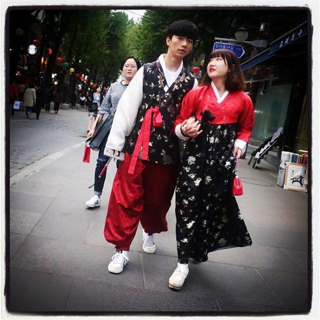 Romance in Hanbok.