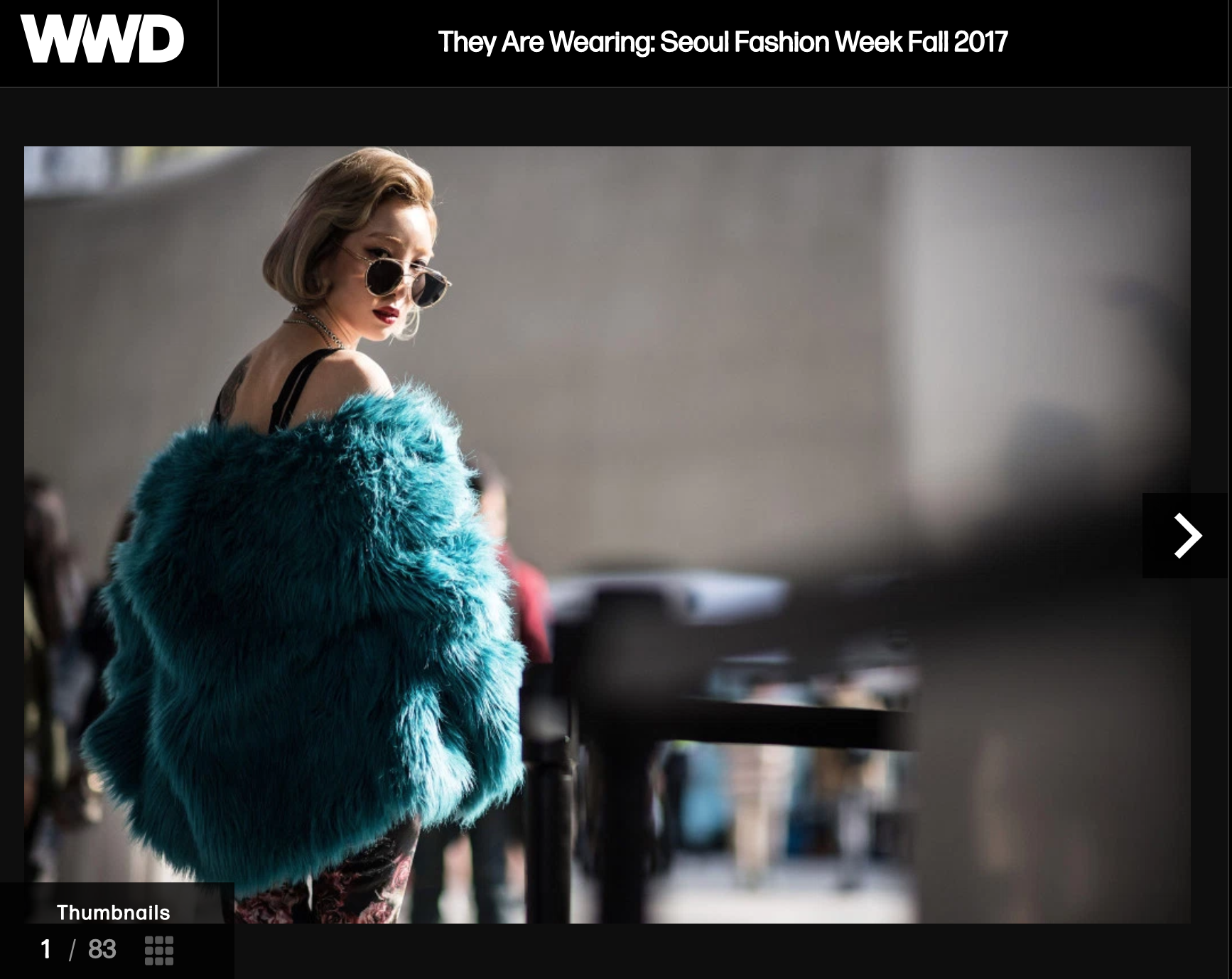 If WWD is looking at Seoul Fashion Week, it's important. Of note is the fact that there are no pictures of SFW runways in any of this coverage -- only street fashion.
