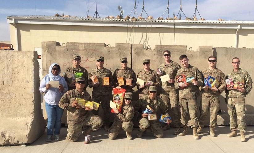 One of our employee's fiance and his unit is stationed out in Afghanistan during the holidays, so we decided to thank them for their service by spoiling them with treats! And they got them in time for Veteran's Day! // November 2018