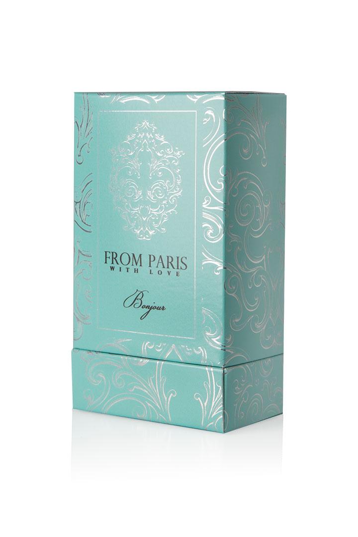 Perfume Box SBS Prototype Mock Up Virtual Packaging Metallic Beauty