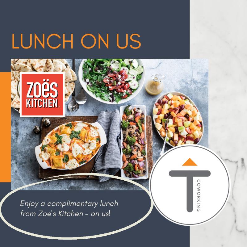 Zoe S Kitchen Lunch Milton Thrive Coworking