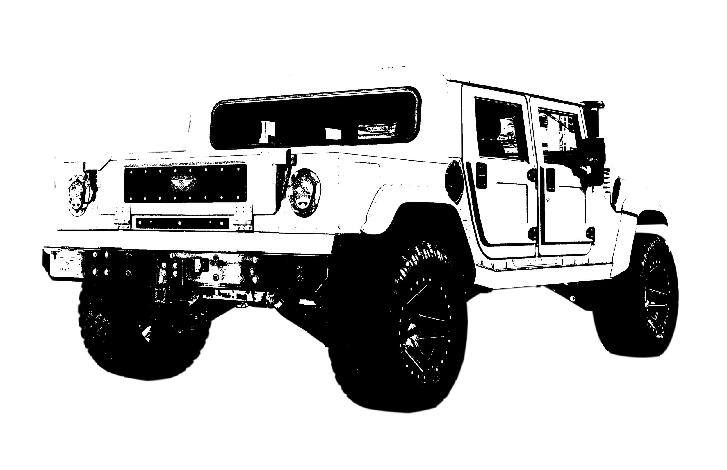 Four Door Hard-Top Pickup - Standard length pickup bed (LxWxH 42 in x 51.5 in x13.5 in) with non-removeable, steel hardtop, oversized(non-opening) rear window, 2 row seatingconfiguration with standard bulkhead (subwoofer,amplifier, and locking storage box) configuration,texture coated black or matched to body color,acoustic deadening cab treatment coating, sounddeadened aircraft grade aluminum headliner panelswrapped with headliner padding