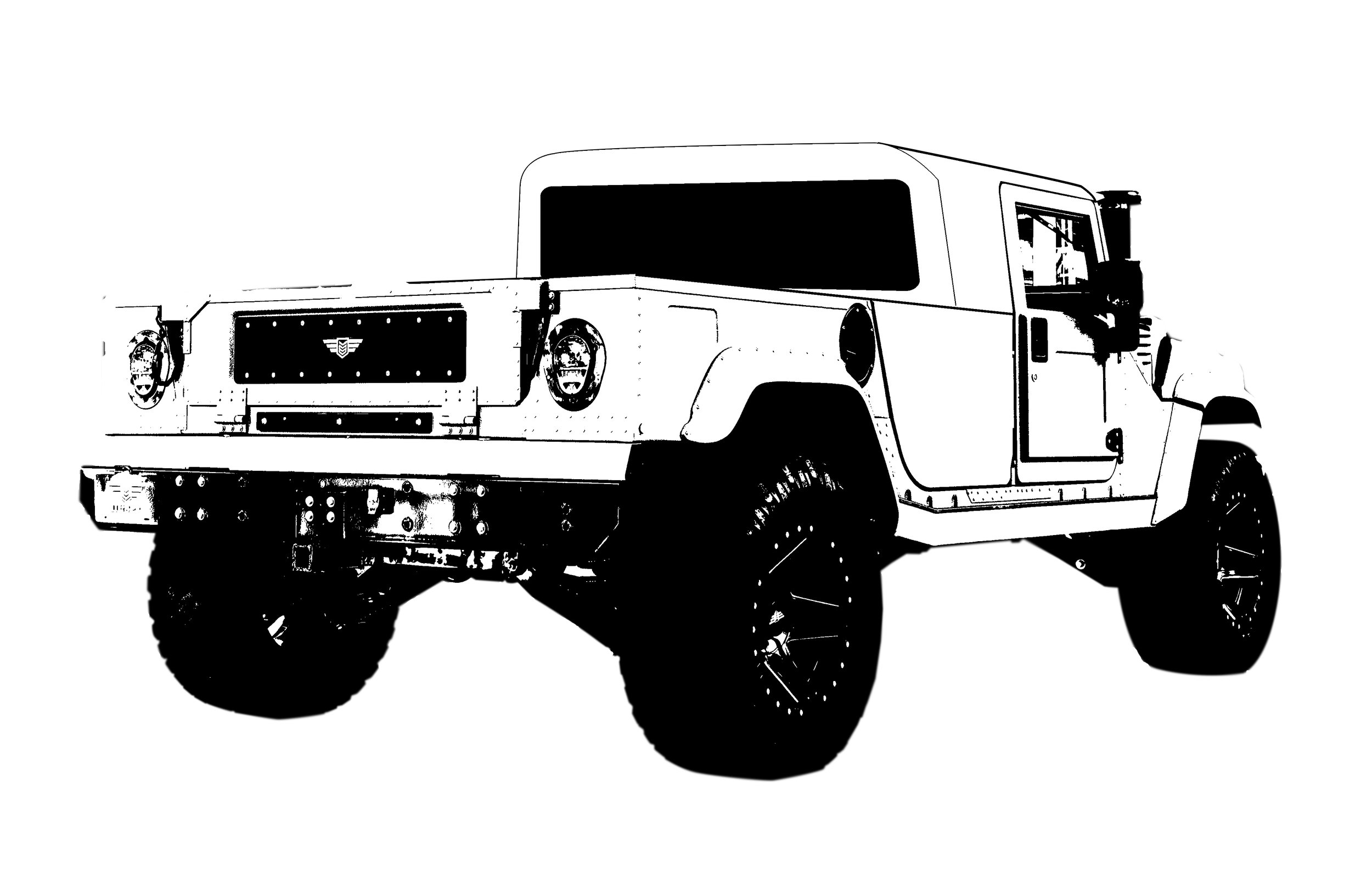 2 Door Hard-Top Pickup - Extended pickup bed (LxWxH 76 in x 51.5 in x 13.5in) with non-removeable, steel hardtop, oversized(opening) rear window, single row seating configuration with low profile bulkhead (subwoofer, amplifier, and locking storage box) configuration, singlecab center console design (not equipped with rearHVAC unit), single cab overhead console design,body color texture coating, acoustic deadening cabtreatment coating, and sound deadened aircraftgrade aluminum headliner panels wrapped withheadliner padding