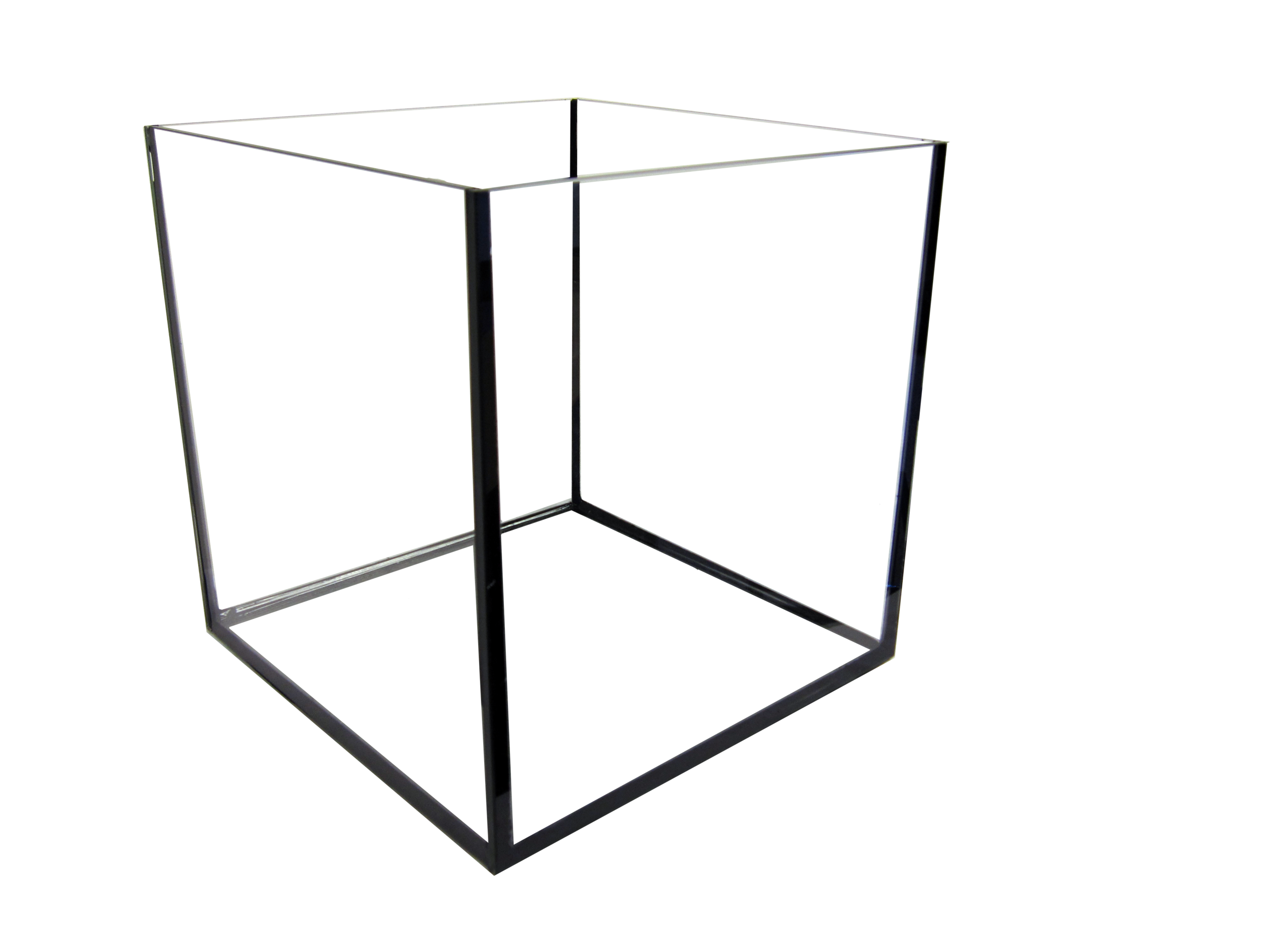 "12 Cube Rimless Aquarium  SKU#: AM11443  UPC#: 7-49729-11443-7  Product Dimension: 11.75""x11.75""x12""  Capacity: Approximately 7.2 gallons  Weight: 12.1 lbs"
