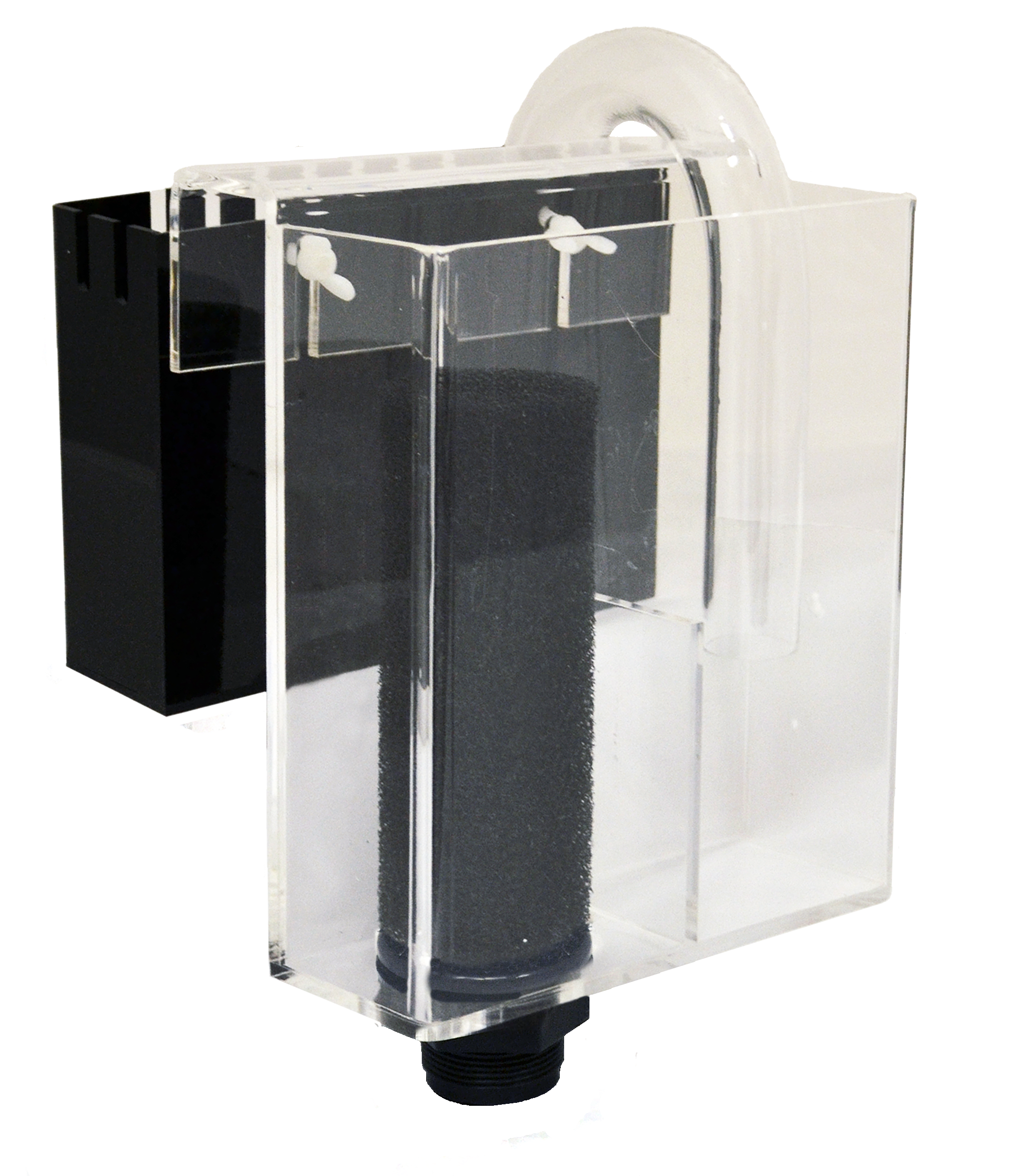 "300 Overflow System     Optimal Tank Size: 30-75 gallons    SKU: AM87001    UPC#: 7-49729-87001-2    Product Size: 6x3x10""    Package Size: 7.75x7.25x10.25""    Package Weight: 3.48lbs.    Master Carton Size: 22.25x16.5x21.5""    Master Carton Weight: 41.8lbs.    Case Pack: 12pcs."