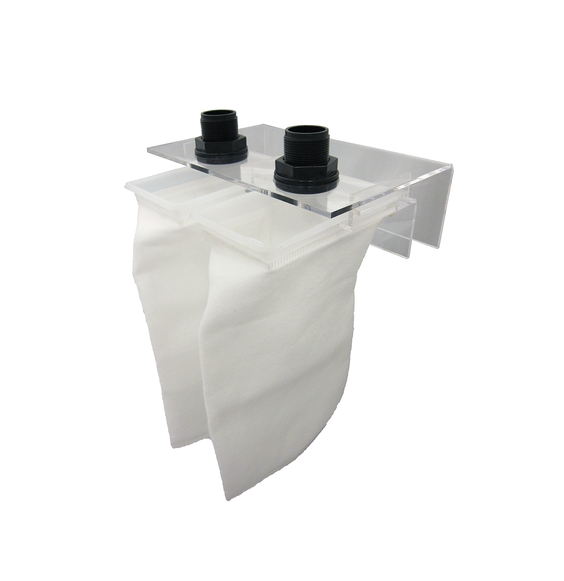 "X-Large Micron Bag Holder   SKU#: AM87803  UPC#: 7-49729-87803-2  Package Dimension: 10.25""x4.5""x8""  Product Dimension: 11.5""x9.5""x4""  Minimum Clearance: 1-3/8""  Capacity: Up to 200 Gallon  Bulkhead Size: 1-Inch  Master Carton Dimension: 17x14x13""  Master pack: 6pcs."
