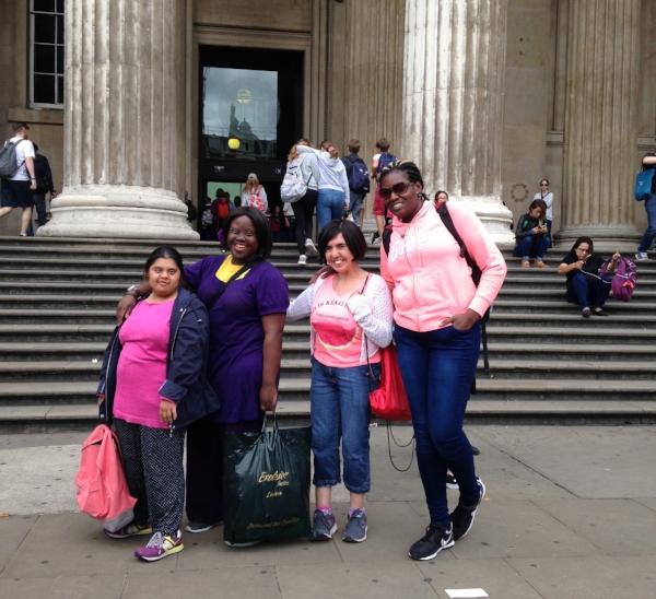 Shruti, Hisba, Pelin and Toyin outside the British Museum