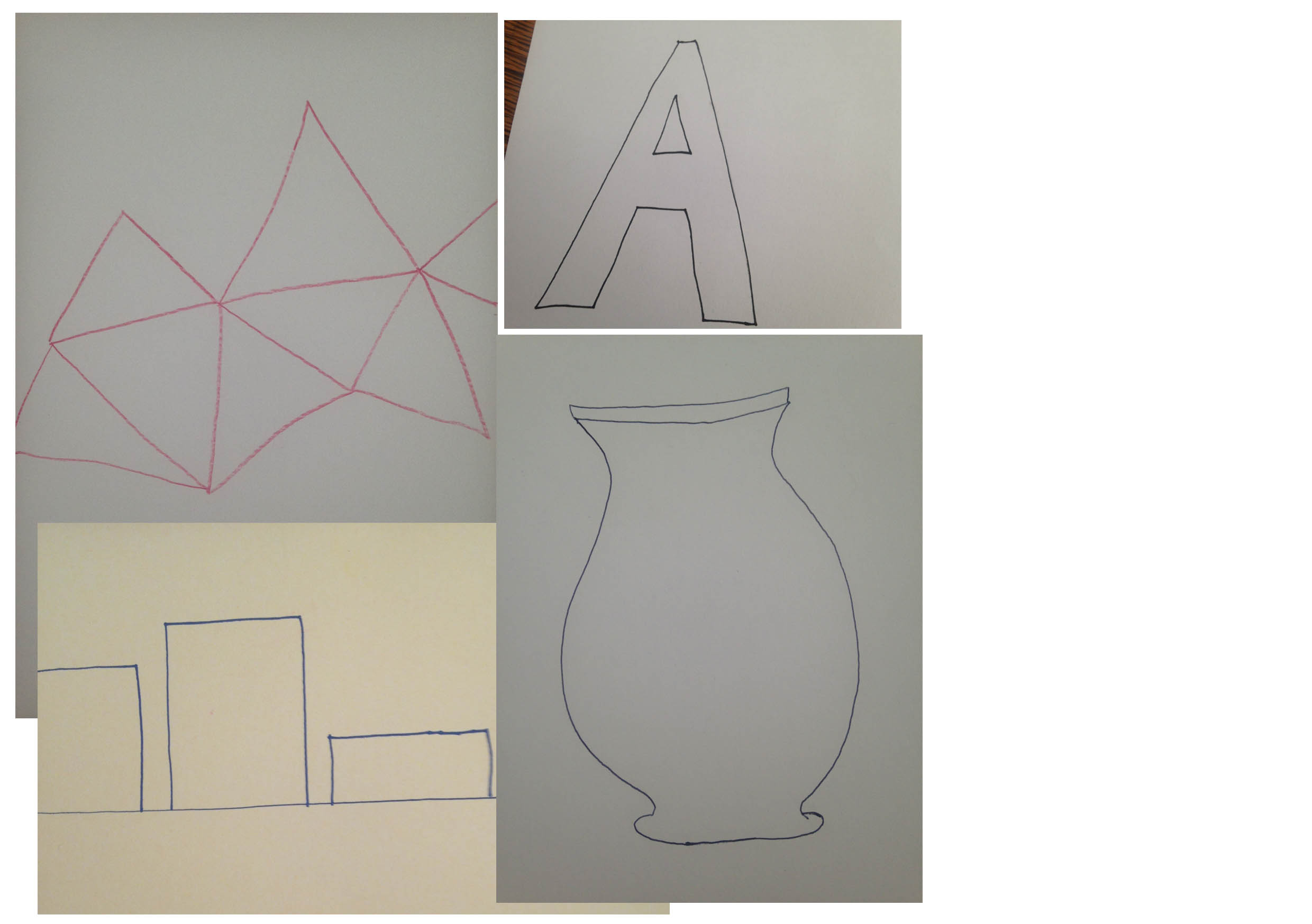 Step 1: - You could draw the outline of anything - it could be an object in your home, an animal, letters, buildings or simply shapes.