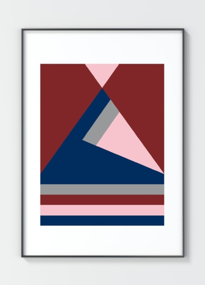 Her best-selling Blue Triangle, available to buy from our  online shop