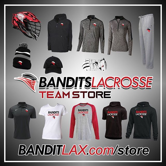 Our team store is open through tomorrow! Visit banditlax.com/store to access. Items ship directly to you! #BeABandit