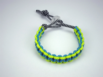 INNER: Zebra Print / OUTER #1: Neon Yellow / OUTER #2: Neon Blue / CLIP: Clear