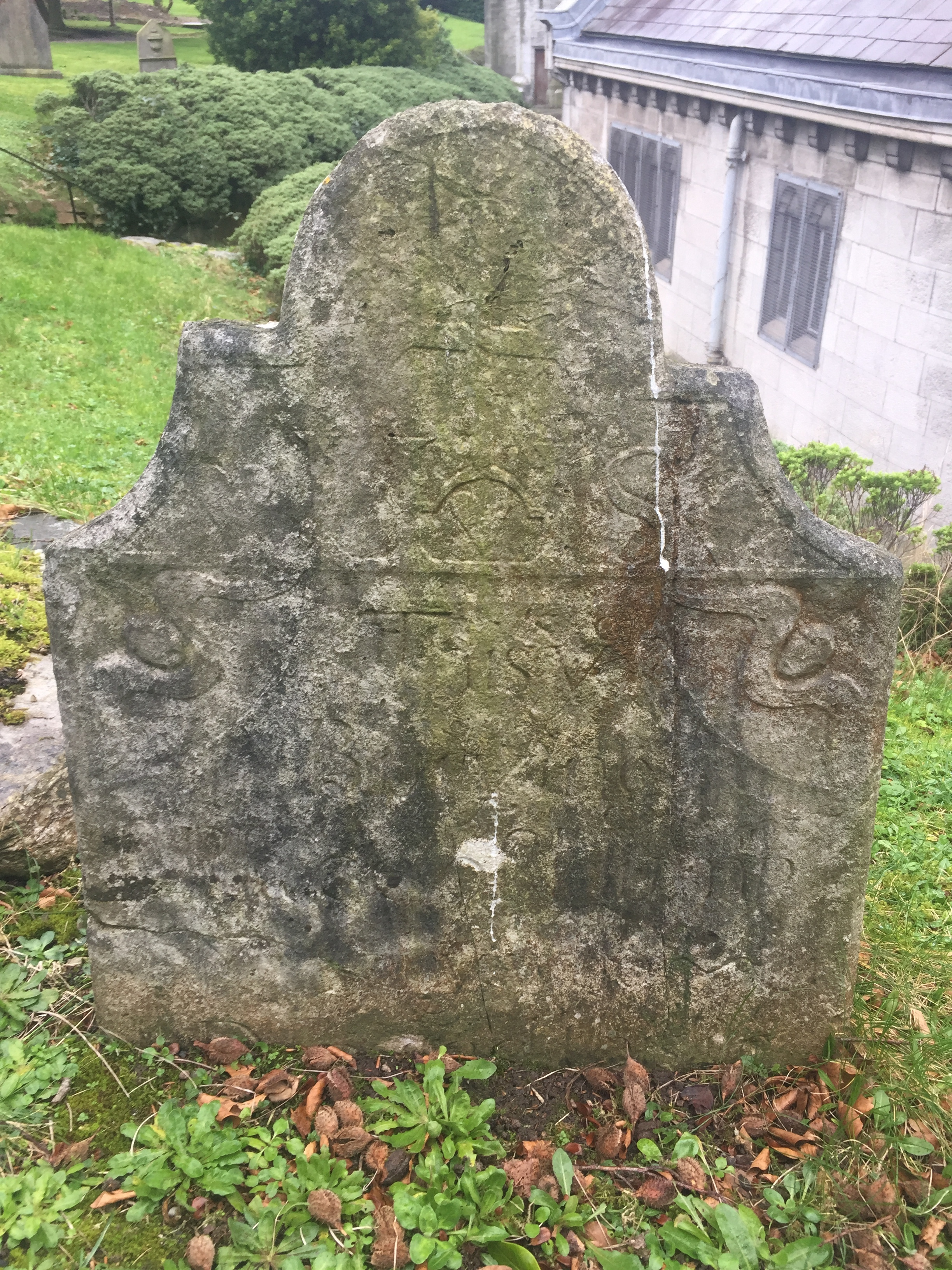 Some of the old tombstones.