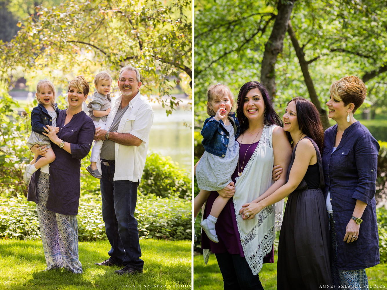grandparents with toddler grandkids | cleveland ohio family portraits