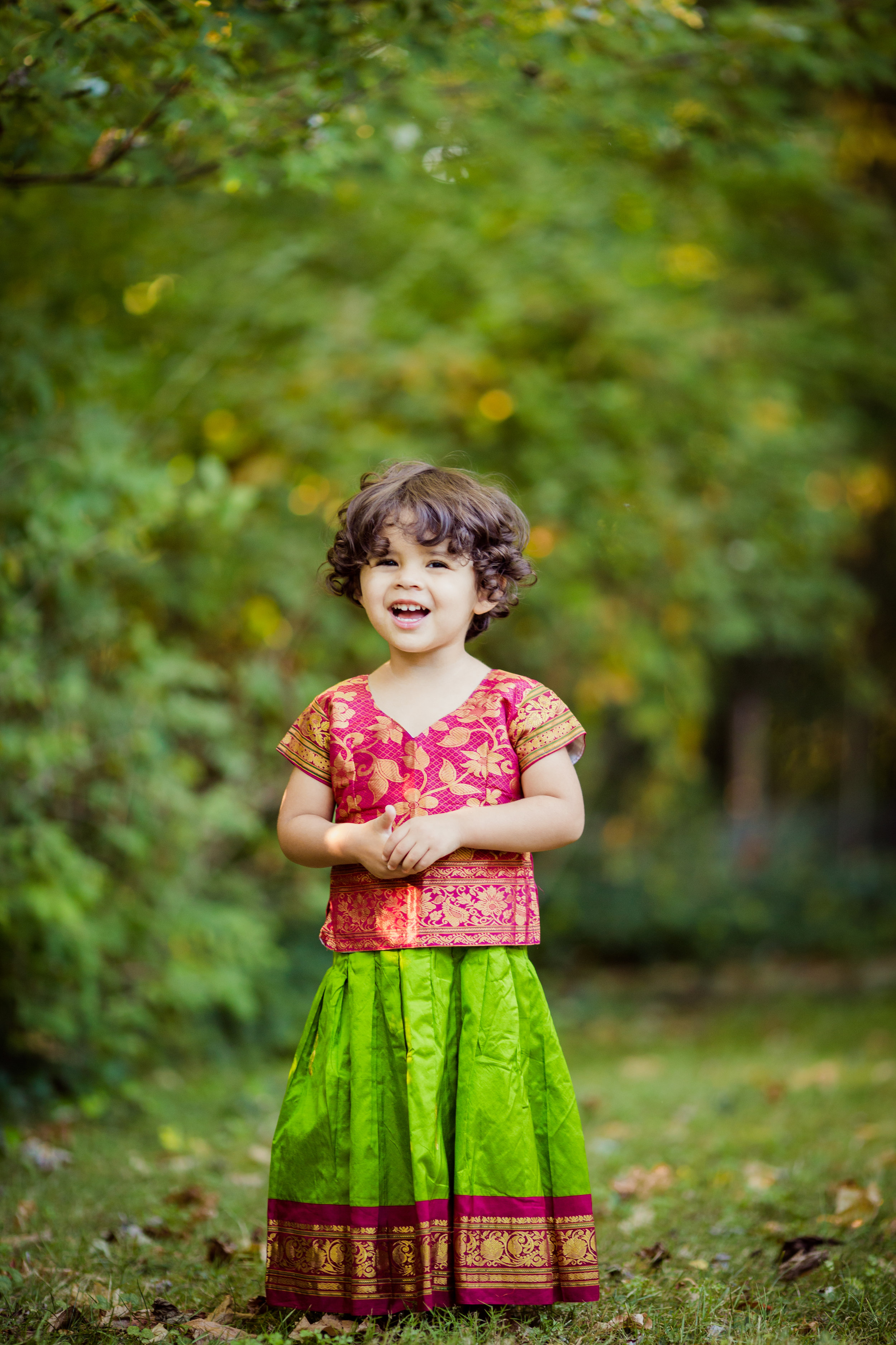 indian dress hindu toddler girl | cleveland heights child photography