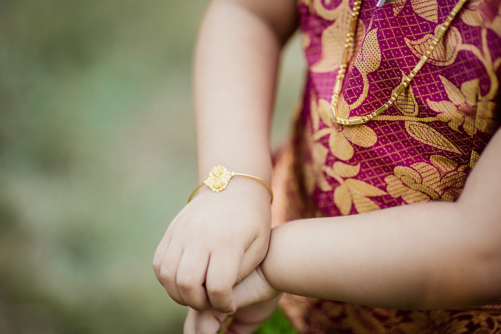 hindu jewelry on child girl | cleveland kids photographer