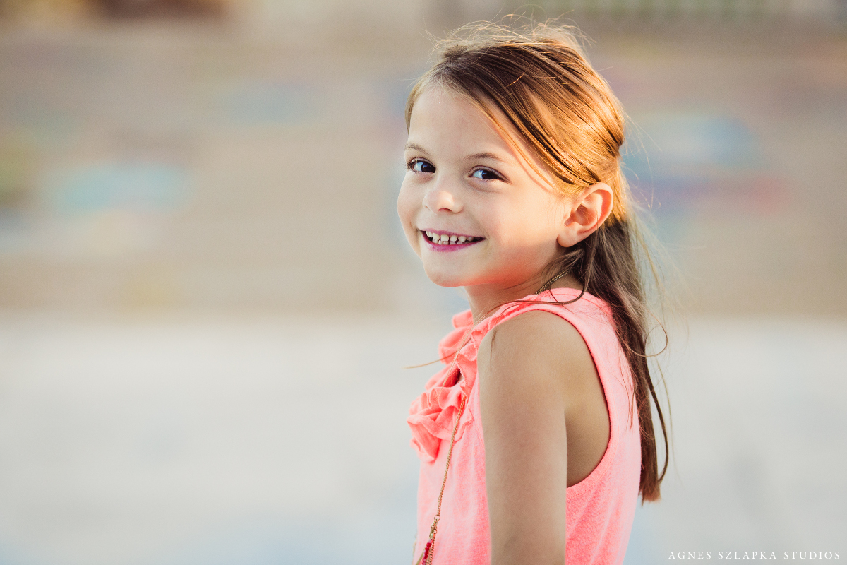 first grade girl smiling | cleveland ohio kids photography