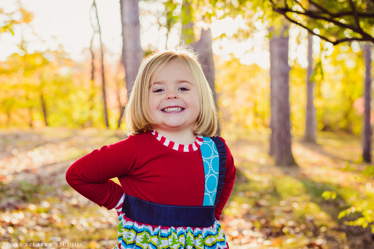 blond toddler girl wearing handmade dress | cleveland, ohio lifestyle family photographer