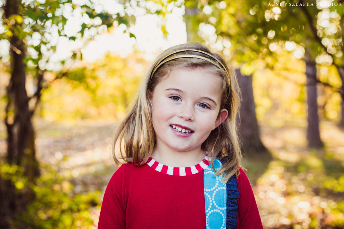 five year old girl in red dress | cleveland, ohio family photographer