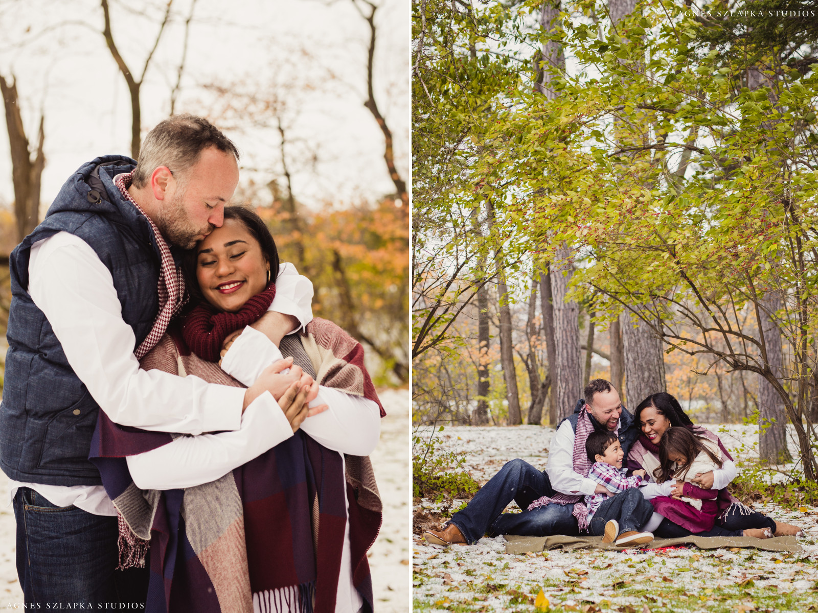 parents loving on two kids and smiling | cleveland, ohio family photographer