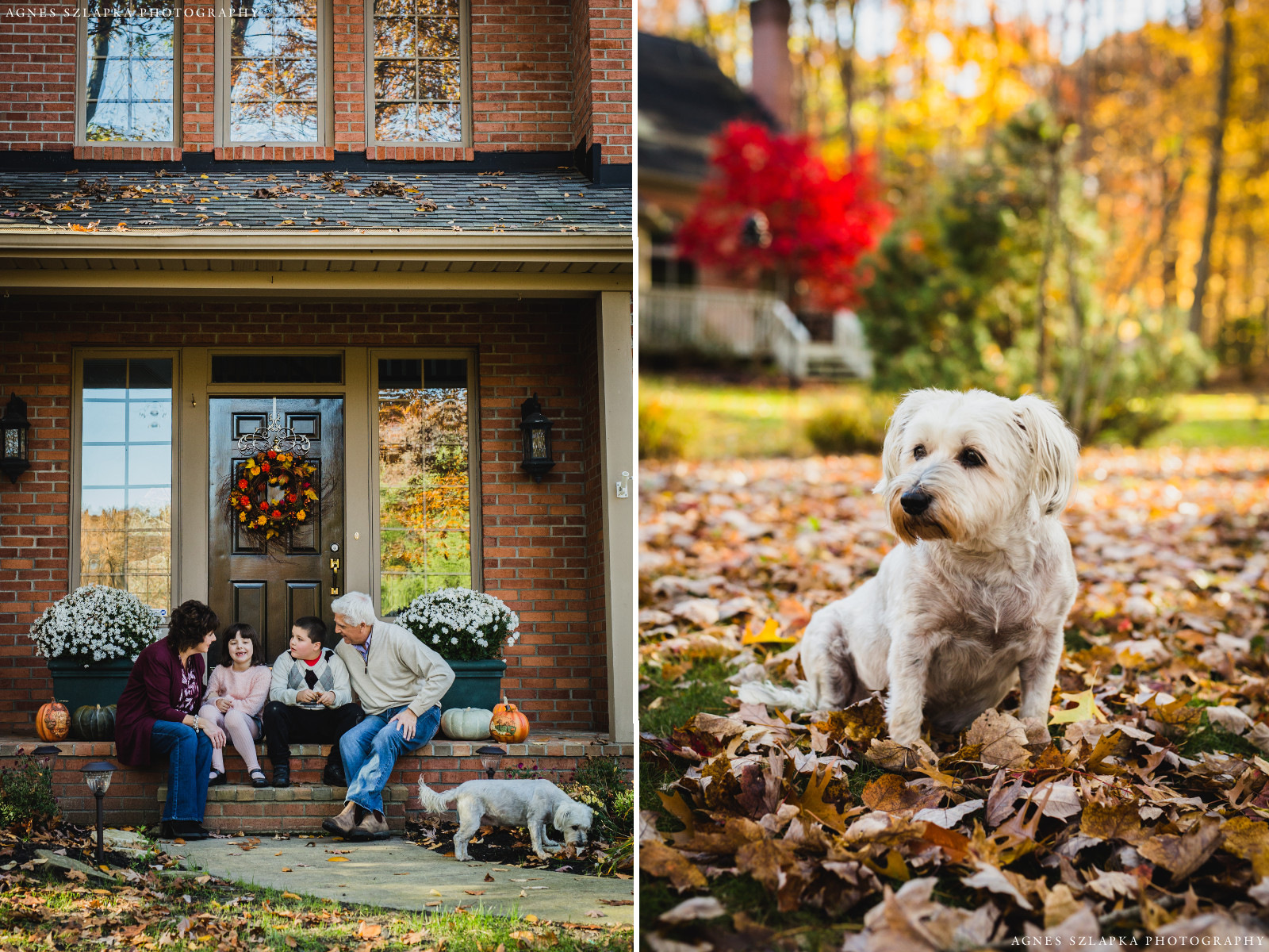 front entrance of home in chagrin falls | cleveland, ohio family photographer