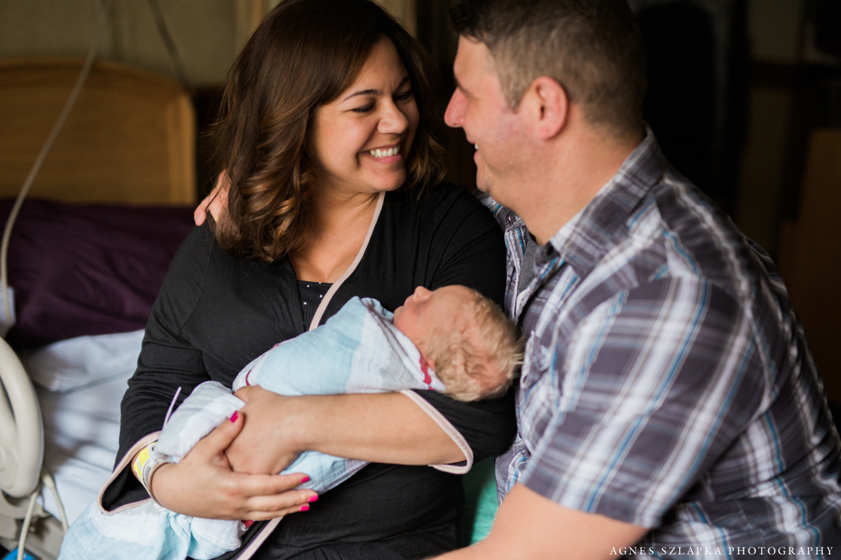 new parents welcome baby son | cleveland ohio fresh 48 newborn photography
