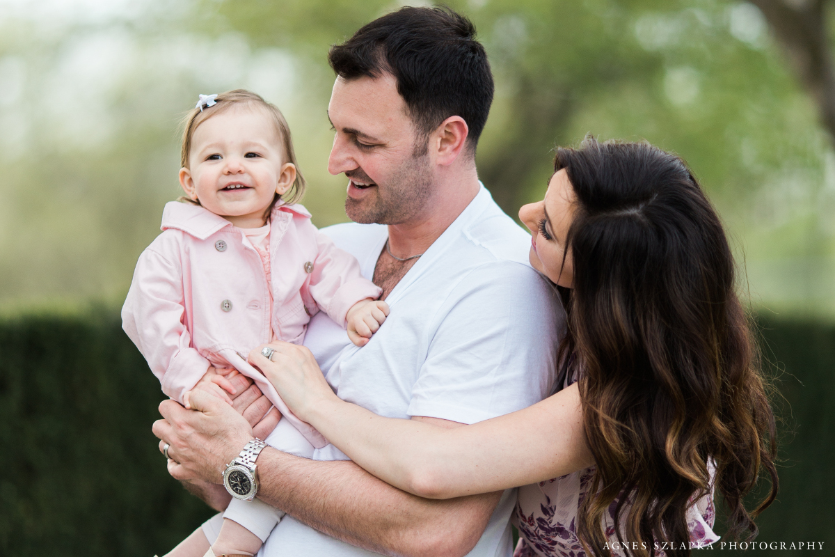 family of three during spring photo session | cleveland, kids photographer