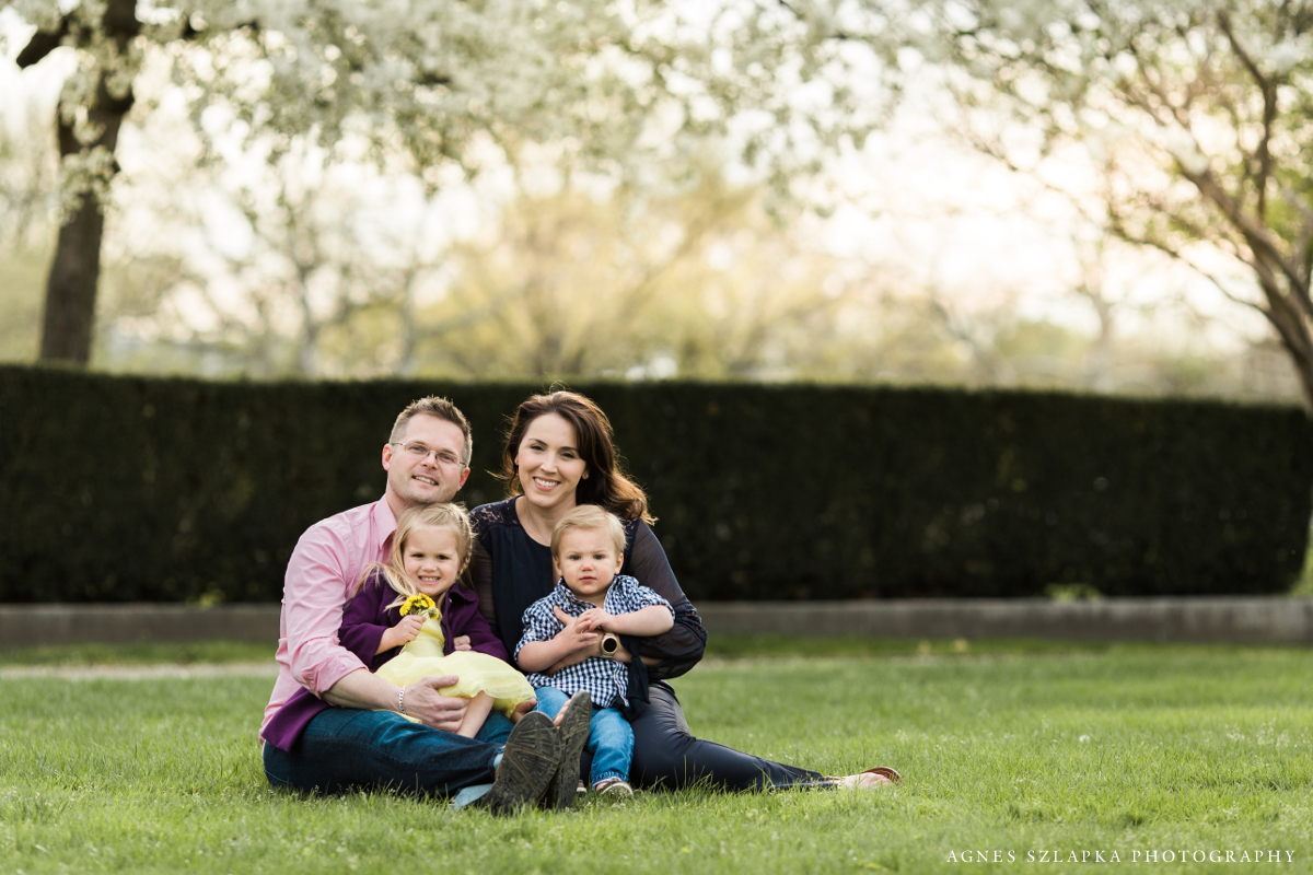 family of four at museum of art | cleveland, lifestyle portraits
