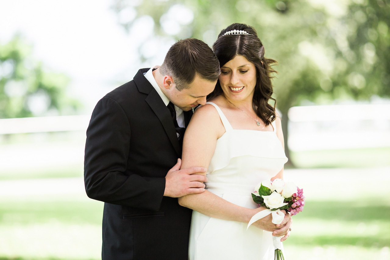 bride and groom in lakewood park | cleveland ohio wedding photography