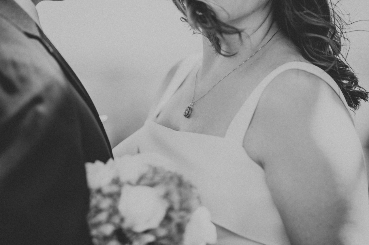 shoulders of bride and groom in lakewood | cleveland, ohio wedding photos