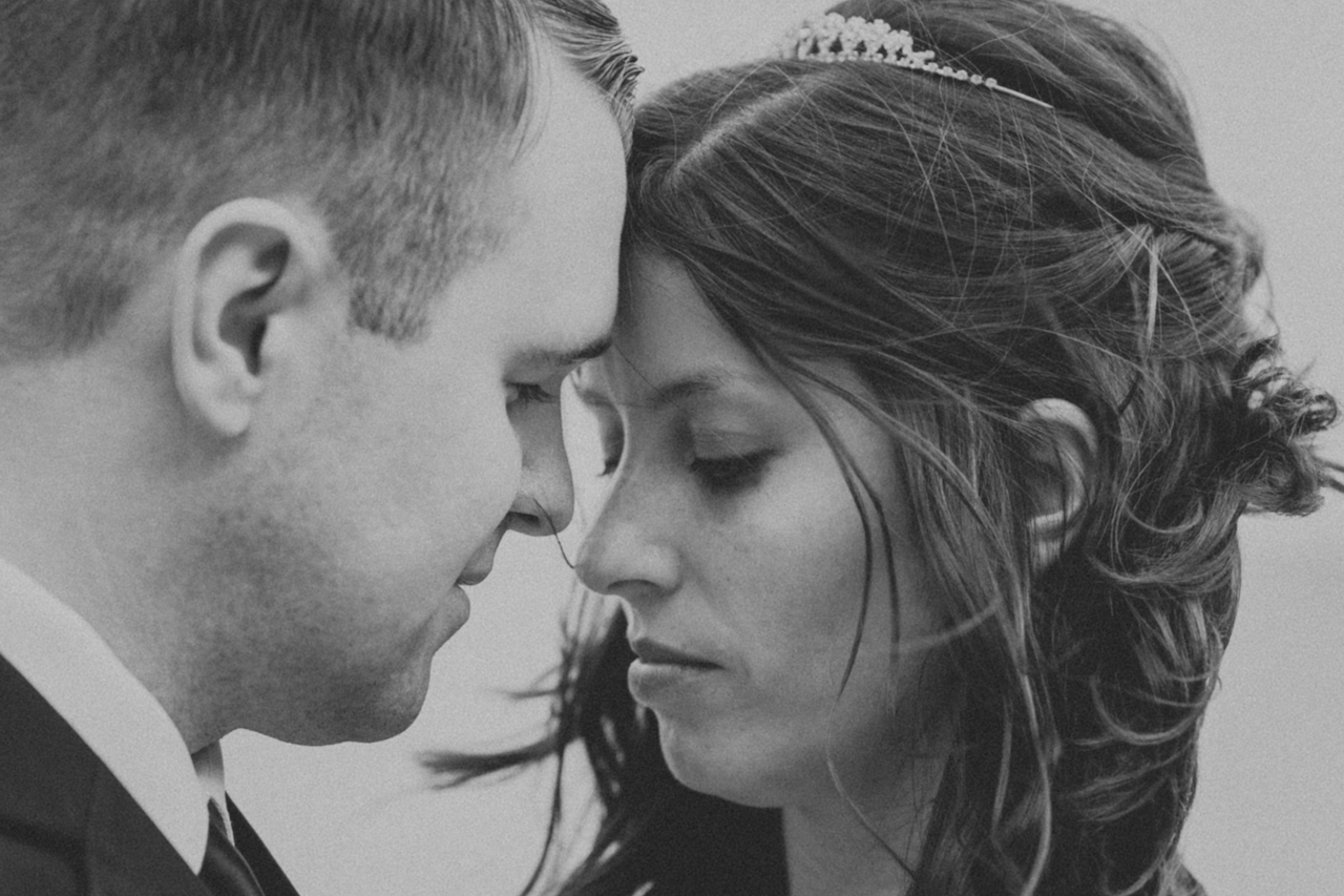 close up of bride and groom faces in lakewood | cleveland ohio photographer