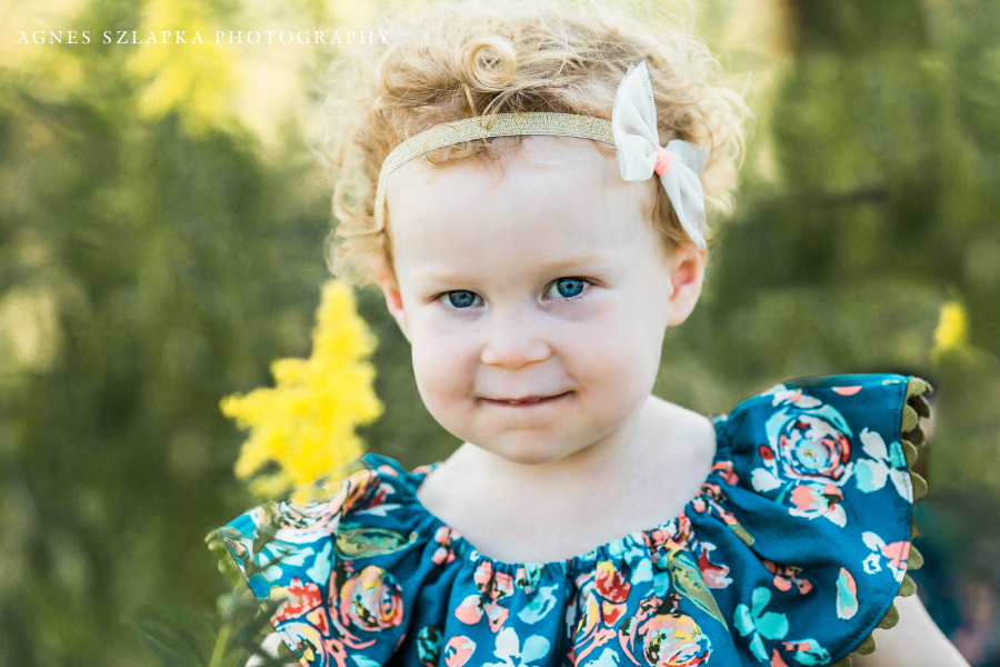 two year old toddler girl with bow in hair | cleveland, family photographer