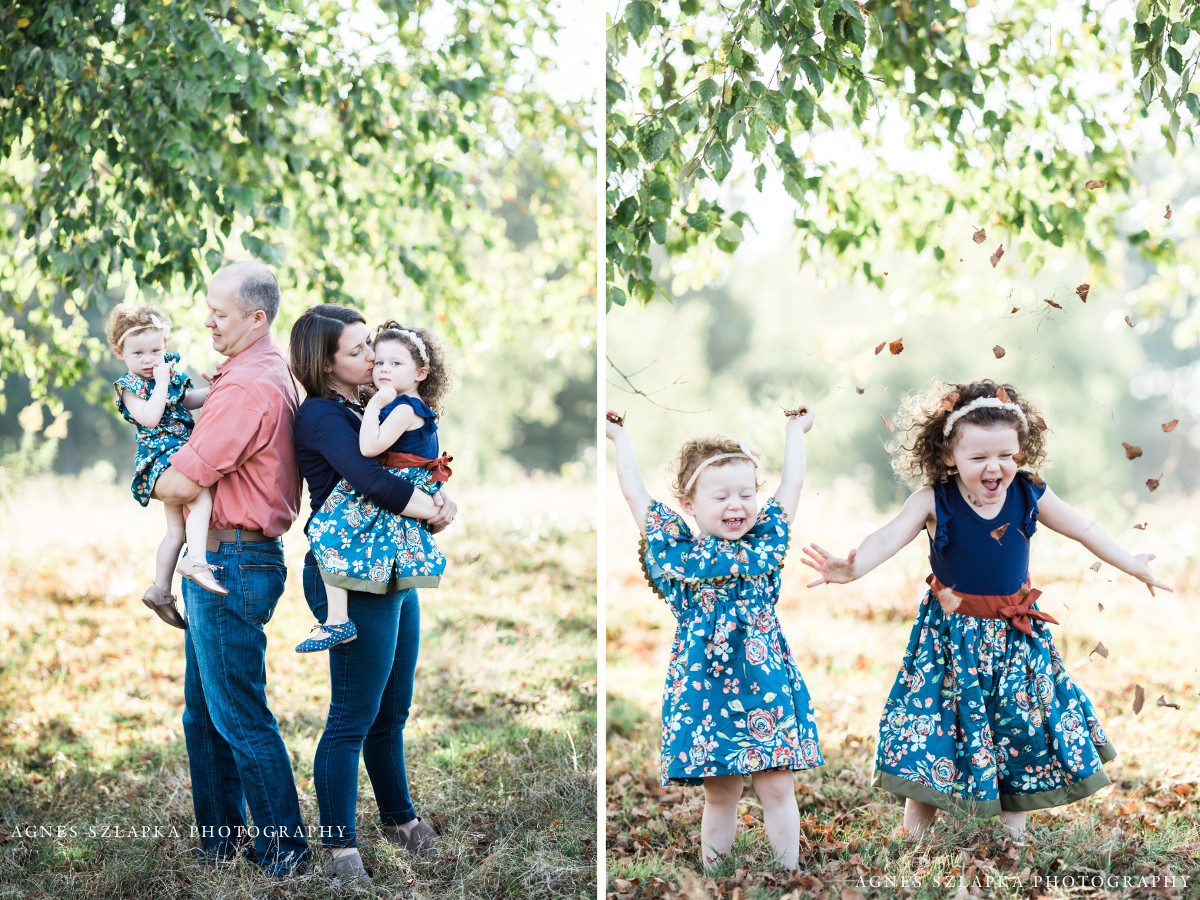 family of four having fun in acacia park | cleveland, OH lifestyle photographer