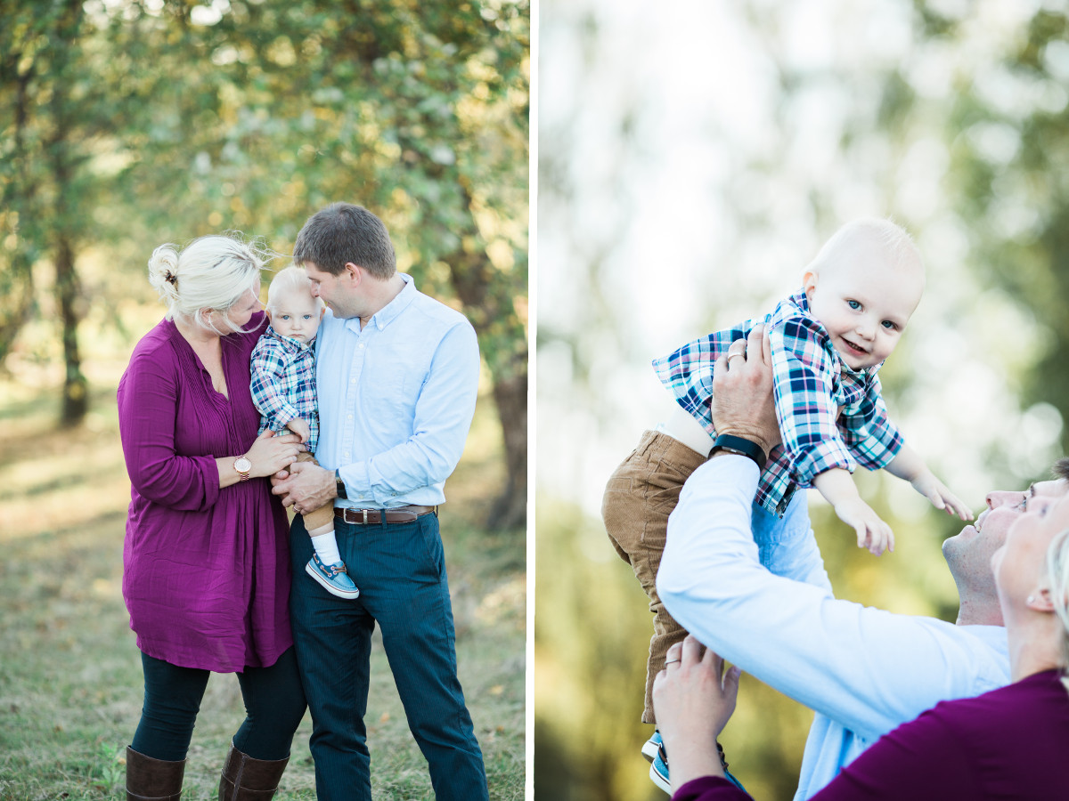 family of three standing close to one another | cleveland, OH lifestyle photography