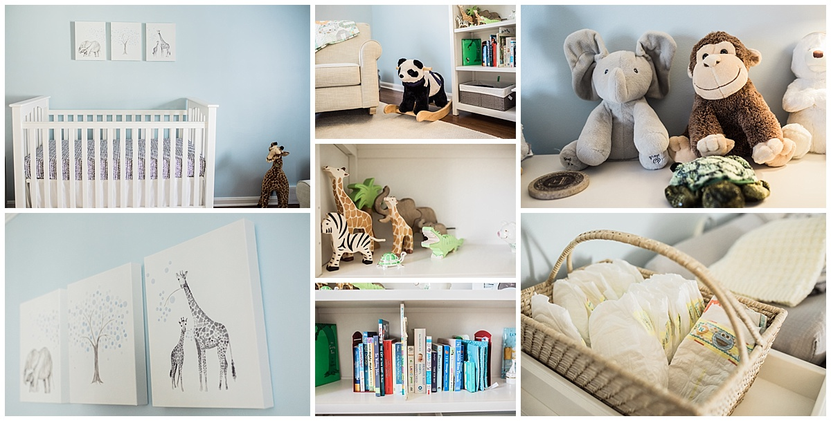 infant sons nursery and room decor in shaker heights | cleveland, OH newborn photographer