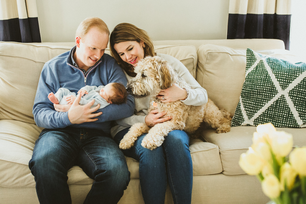 new parent in shaker heights home with baby boy | cleveland, ohio newborn photographer