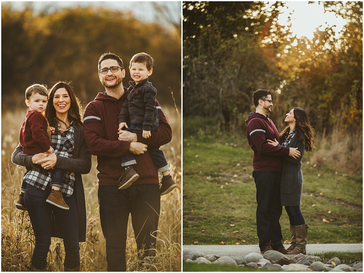 parents with two small boys in arms | cleveland, ohio kids photographer