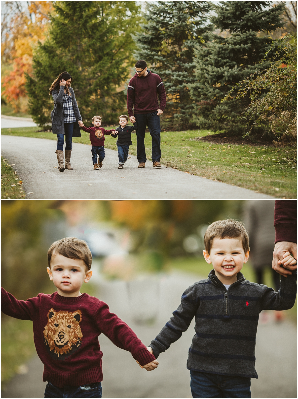 toddler boy portraits wearing sweaters | cleveland, OH family photographer