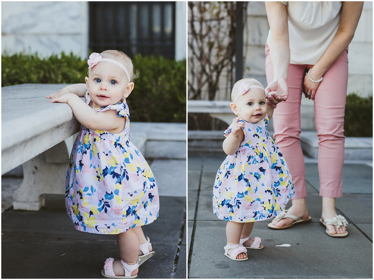 baby girls first steps with mom | cleveland, OH family photographer