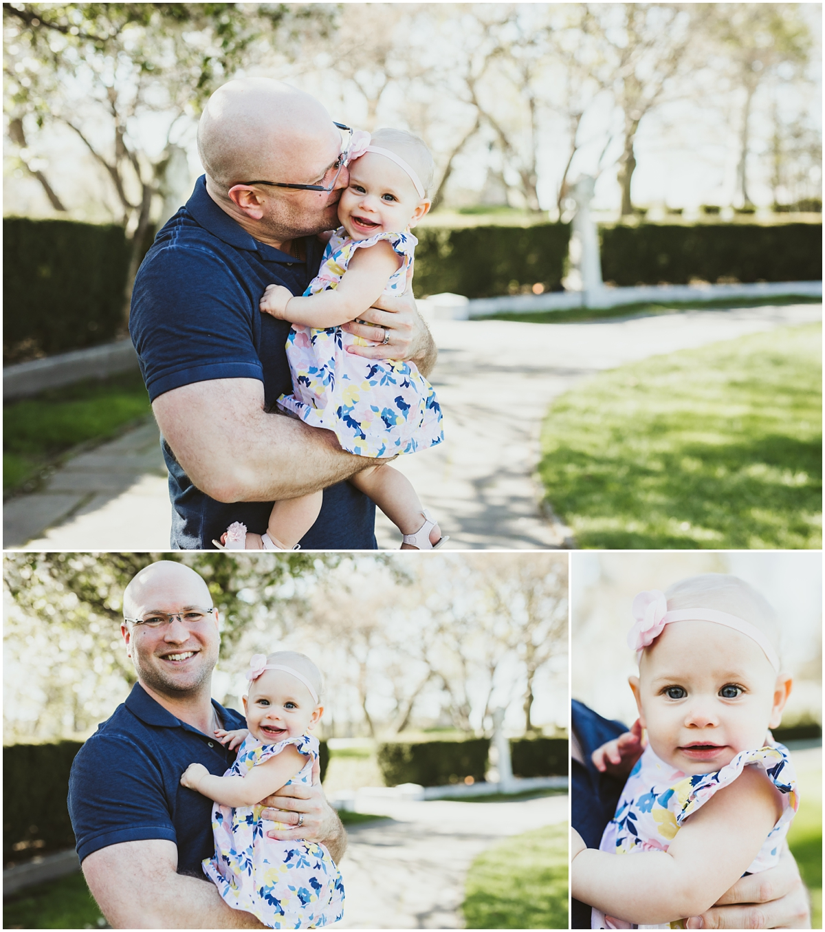 father kissing little daughters cheeks | cleveland, OH family photographer