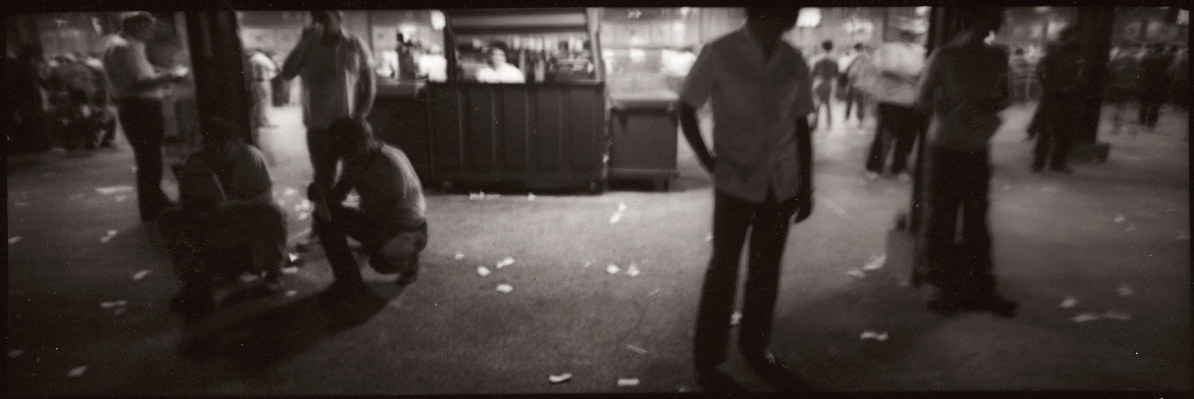 """Jason Horowitz  Untitled , 1991 Gelatin silver print 18"""" x 54"""" on 22""""x58"""" paper Matted in 26 1/2"""" x 60 1/2"""" frame One of four existing silver prints"""