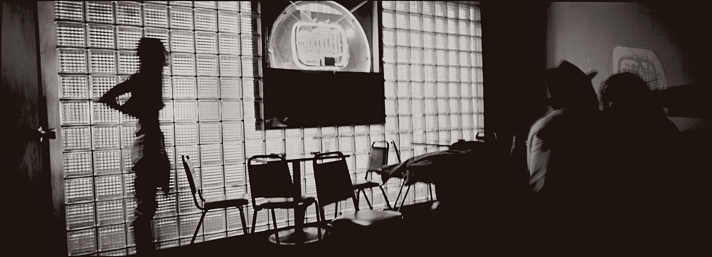 """Jason Horowitz  Untitled , 1991 Gelatin silver print 18"""" x 54"""" on 22""""x58"""" paper Matted in 26 1/2"""" x 60 1/2"""" frame One of three existing silver prints"""