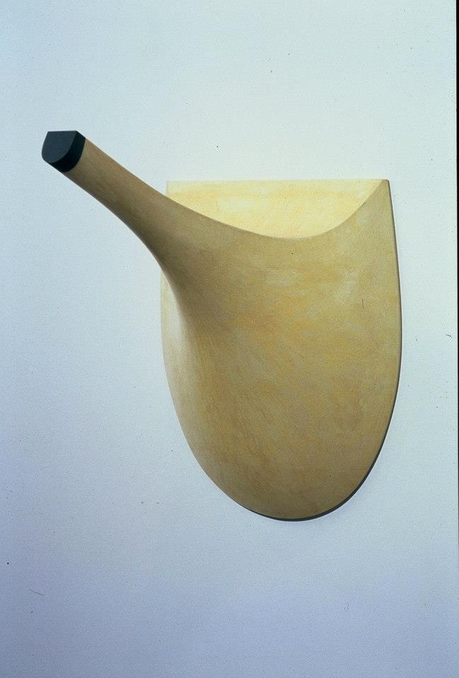 "Jeff Spaulding  Arthur's Dream  2002 Wood, hydrocal, plaster, pigment 22"" x 20"" x 20"""