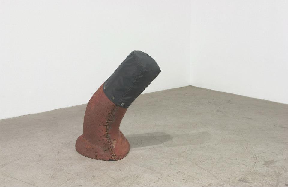 "Jeff Spaulding  Sanctuary   2007 polystyrene, vinyl, wood, steel 22.5"" x 22"" x 13"""