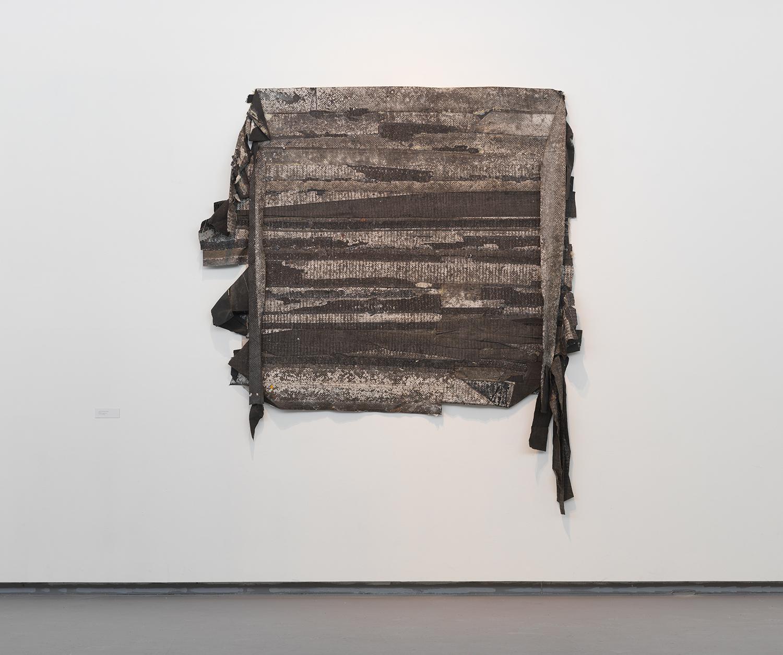 """Jefferson Pinder  Thin Skin / Shock Layer   2014 found street lines 75"""" x 91"""""""