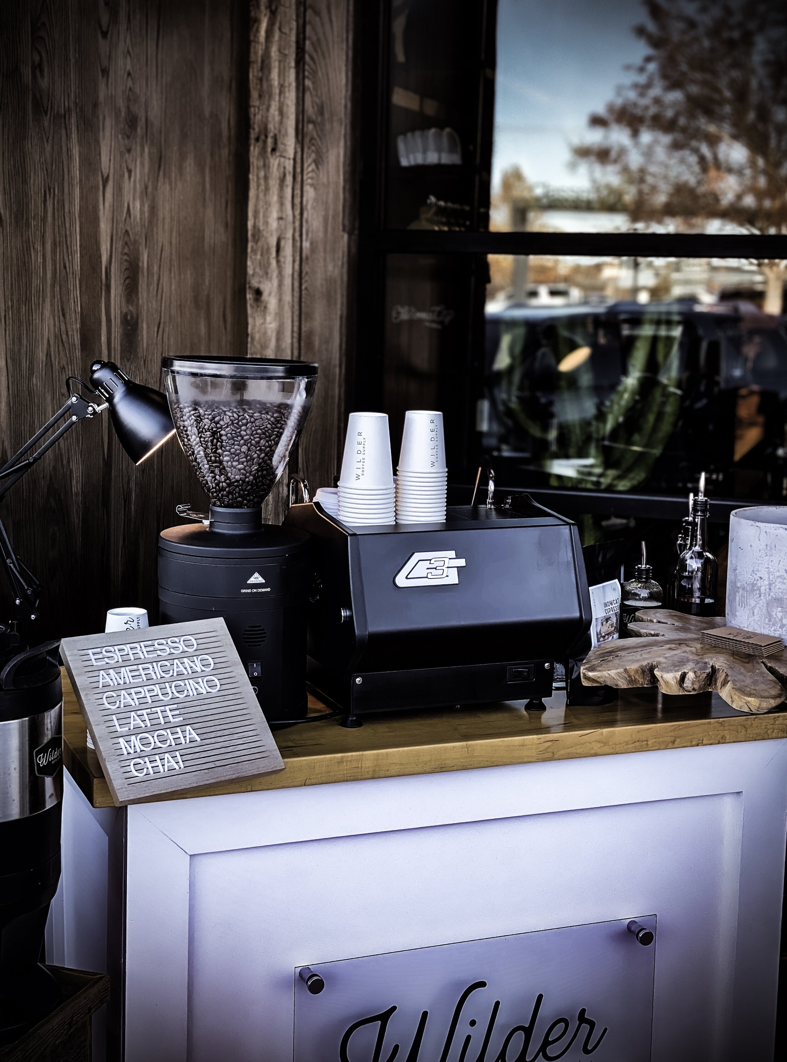 mobile coffee cart Green Goodies