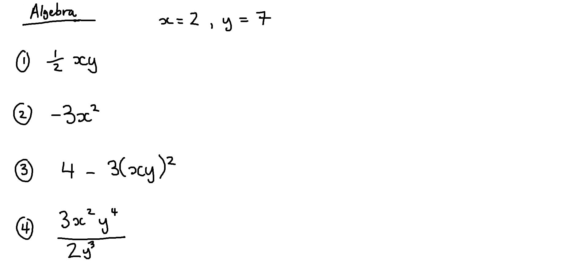 17th October - GCSE Maths - Algebra