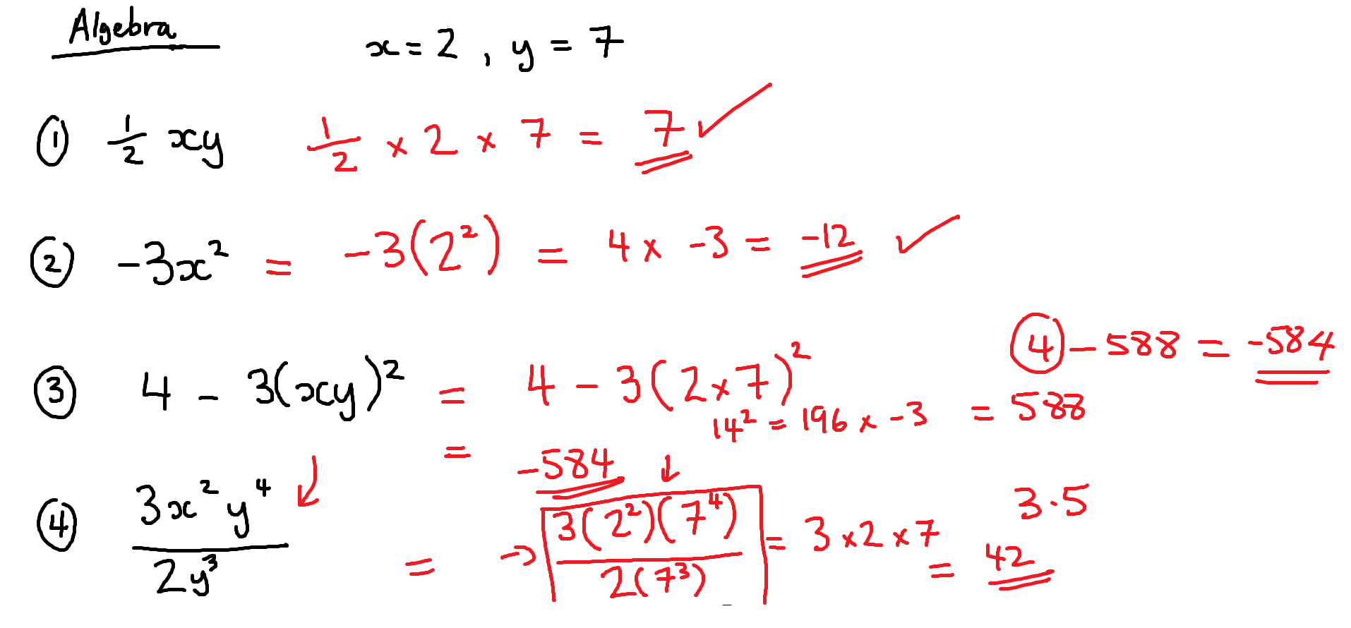 17TH OCTOBER - GCSE MATHS - ANSWERS