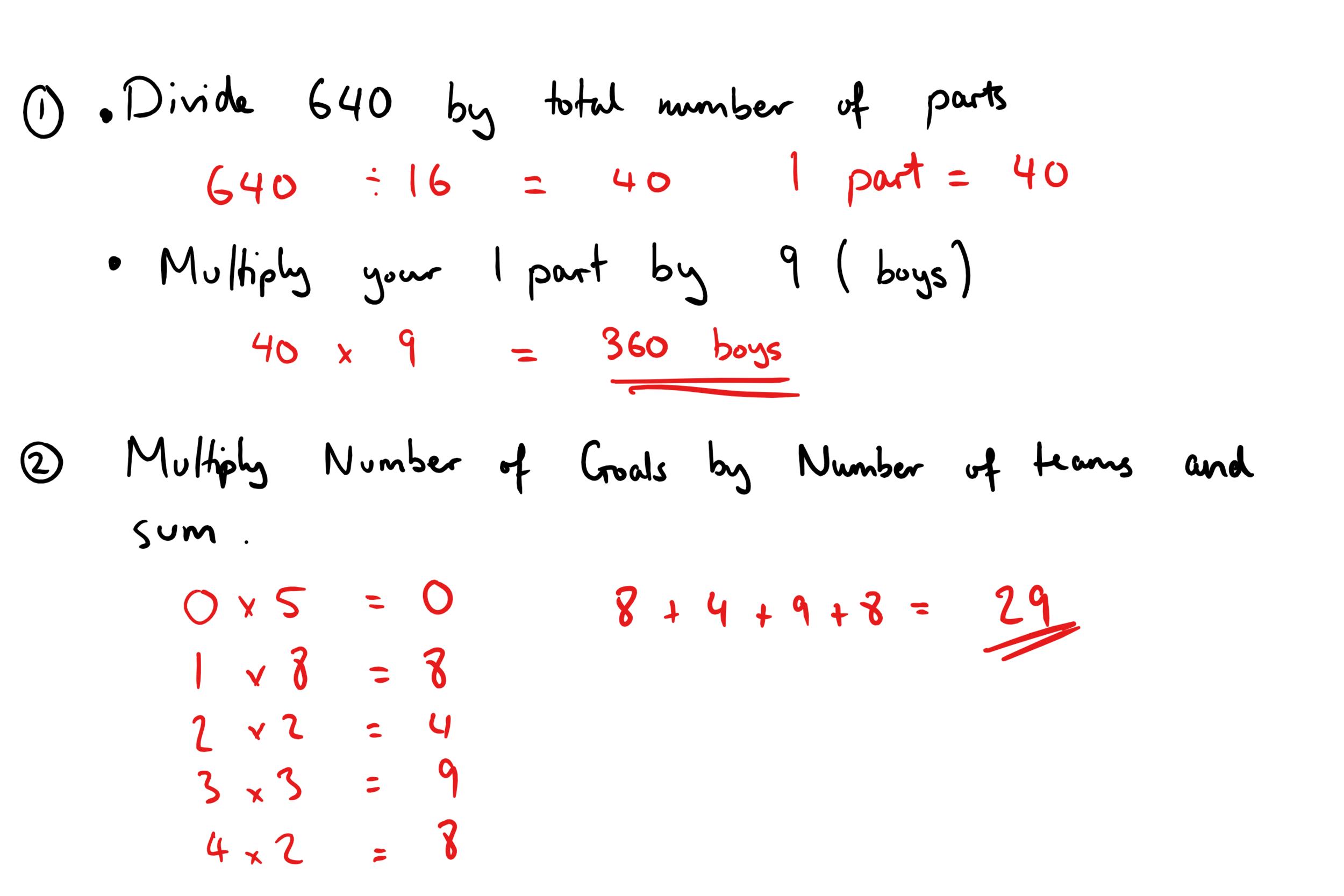 22ND DECEMBER GCSE MATHS ANSWERS 1