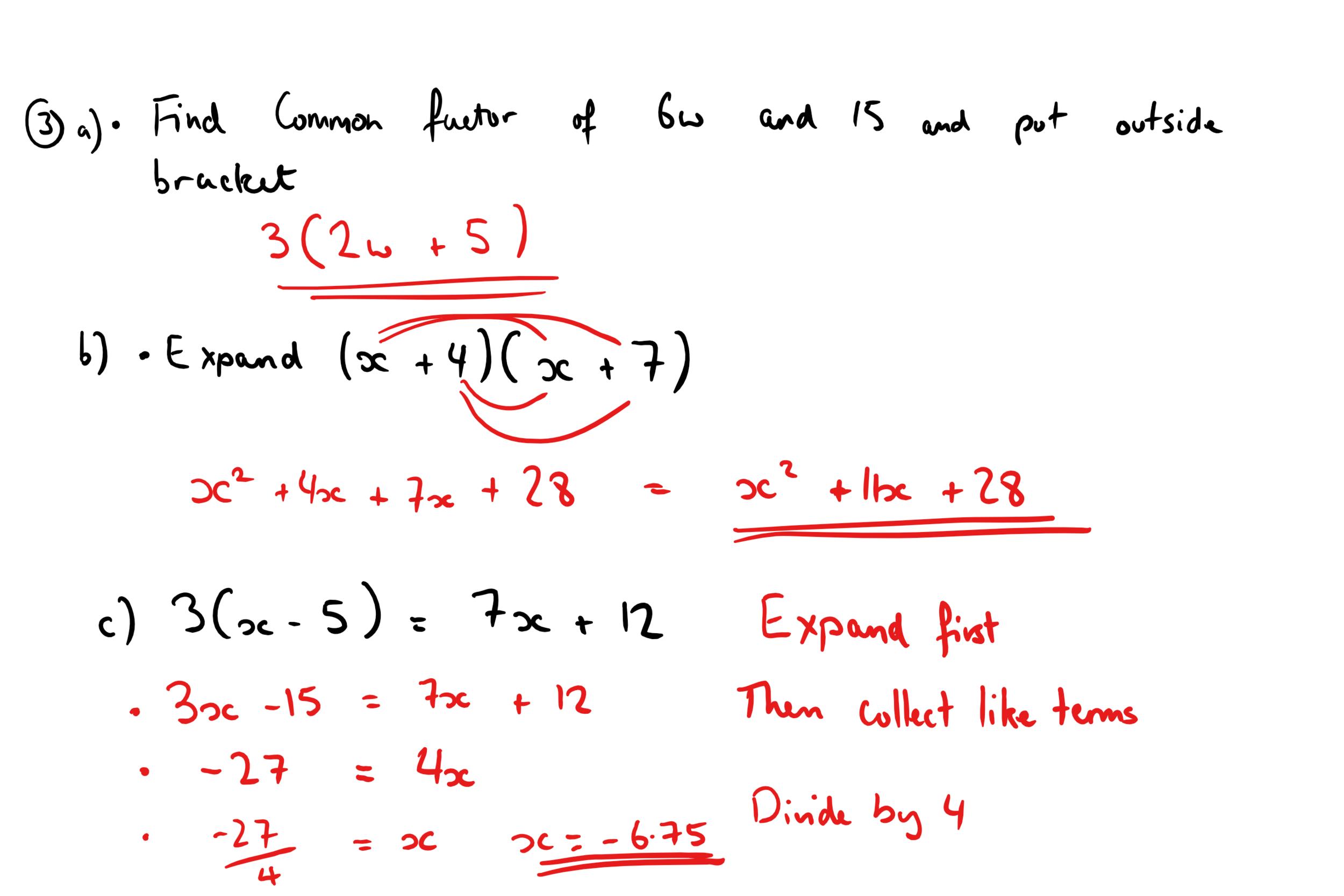 22ND DECEMBER GCSE MATHS ANSWERS 2