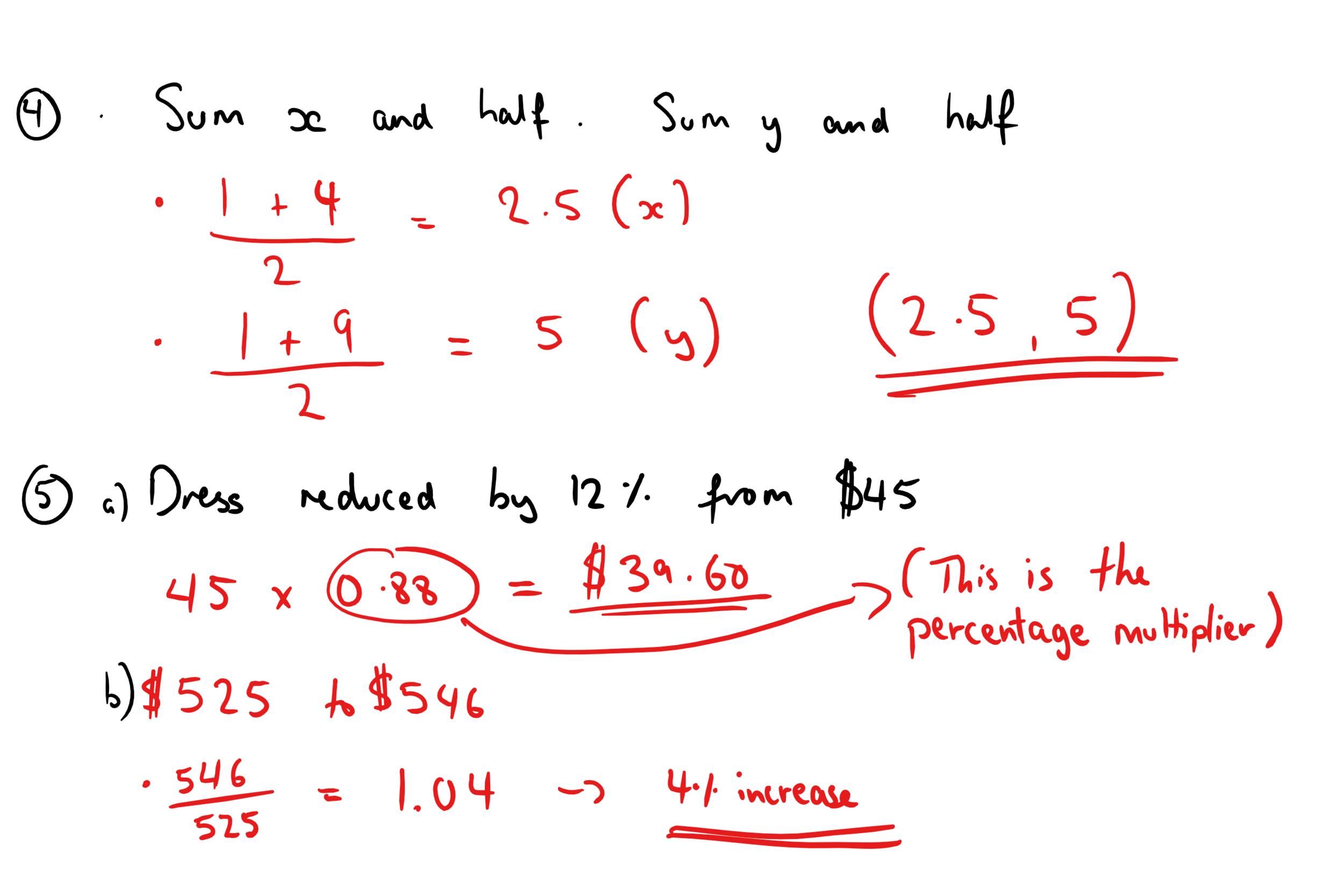 22ND DECEMBER GCSE MATHS ANSWERS 3